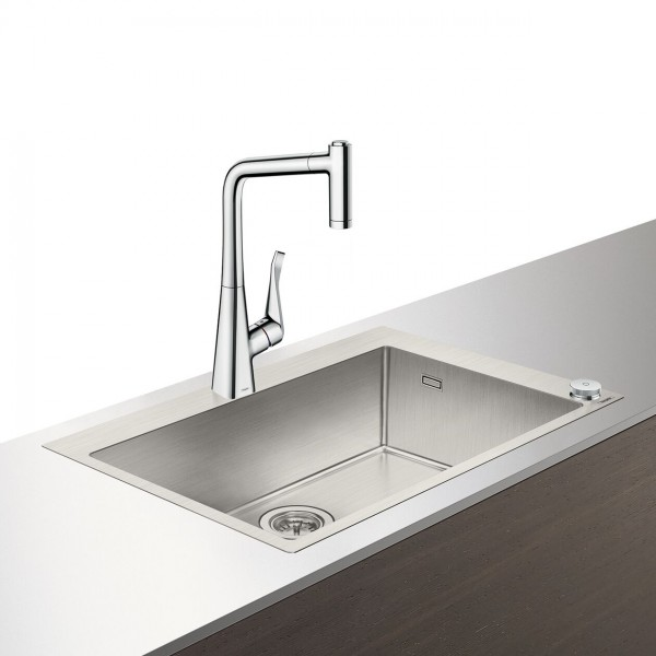 Select-F660-03 Evier combi 660mm Select Hansgrohe Select (43209800)