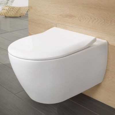 WC Suspendu Villeroy et Boch Subway 2.0 Blanc Sans Bride Abattant SoftClose QuickRelease 2en1