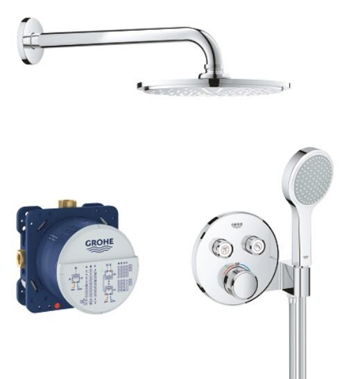 Douche Encastrable Grohe SmartControl SmartControl 286mm Ø210mm Chromé