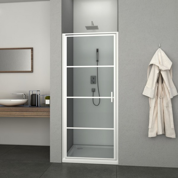Porte de douche pivotante Allibert LOFT-GAME Blanc 824154