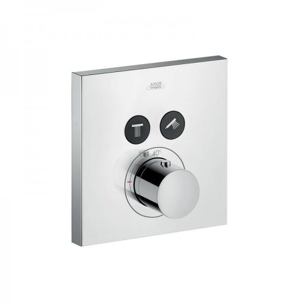Robinet Encastrable ShowerSelect Set de finition pour thermostatique Square 2 voies Axor