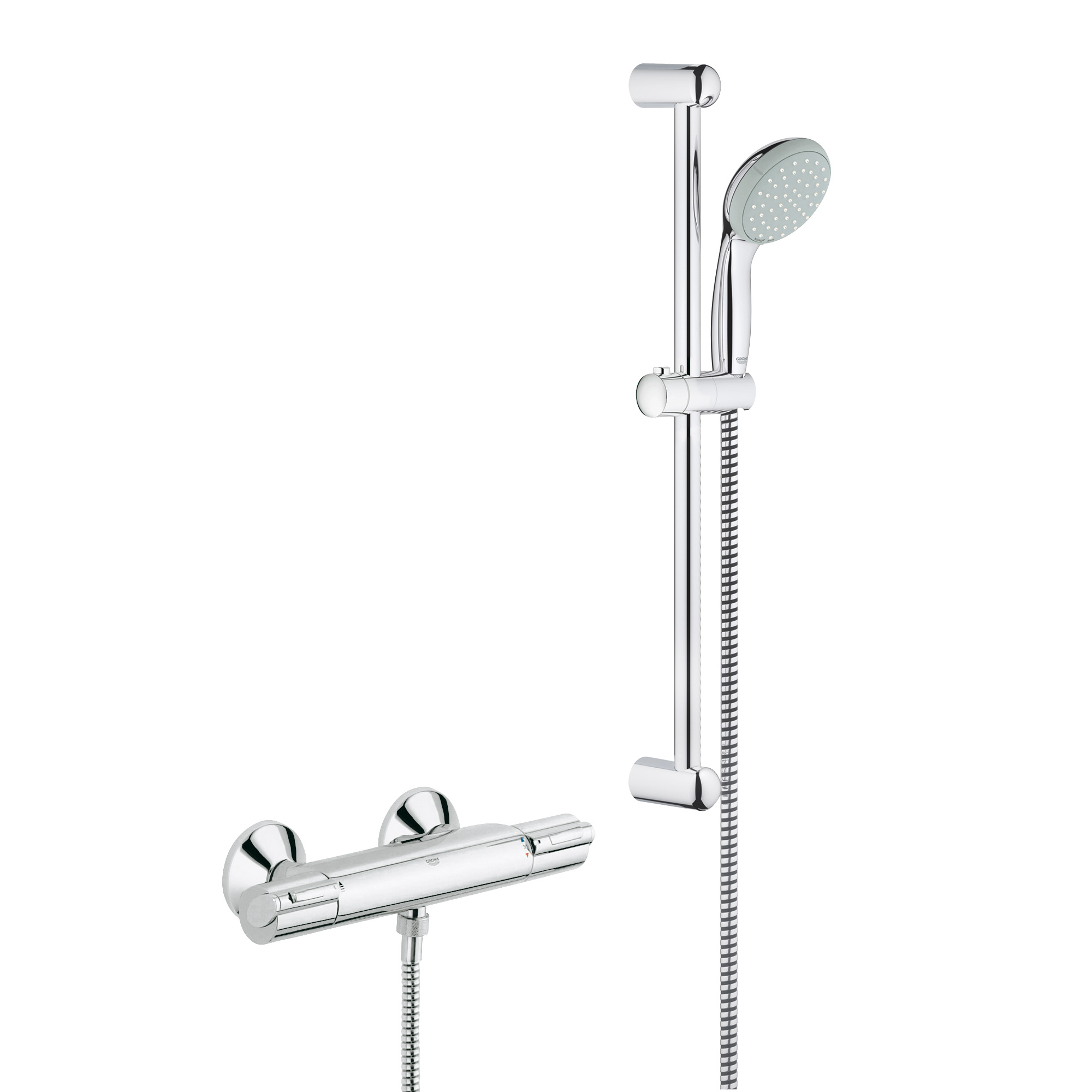 Mitigeur douche encastrable grohe gallery of combine de - Set de douche encastrable ...