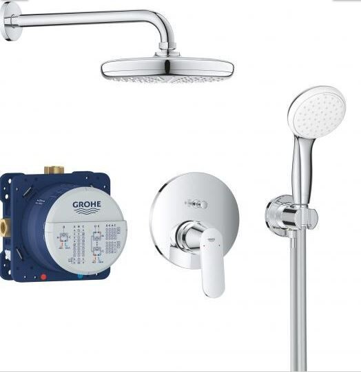 Douche Encastrable Grohe Tempesta 210 286mm Ø210mm Chromé 25219001