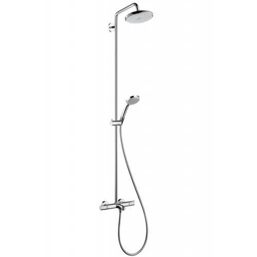 hansgrohe croma 220 showerpipe colonne de douche bras de douche 400mm orientable 27223000. Black Bedroom Furniture Sets. Home Design Ideas