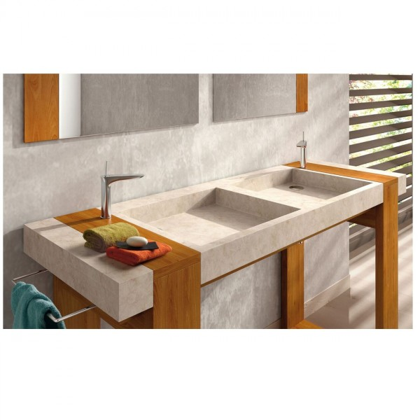 The Bath Collection Badkamermeubel Set SIMI Wastafel, meubilair en spiegels 1535x450x900mm Beige