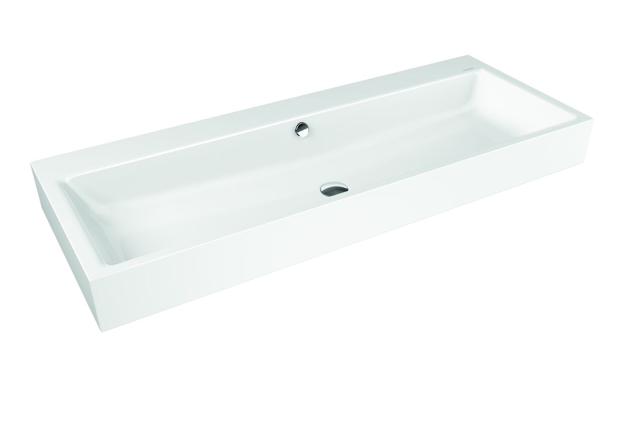 Kaldewei Wall Hung Basin Double with overflow Puro Alpine White