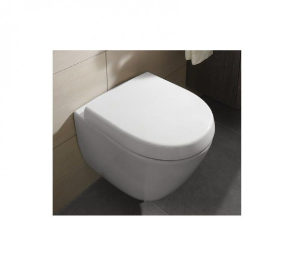 Abattant WC Rond Villeroy et Boch Subway 2.0 Compact Blanc Alpin Duroplast