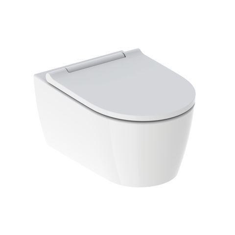Pack WC Suspendu Geberit ONE KeraTect Soft Closing Quick Release 370x343x540mm Charnières Blanches