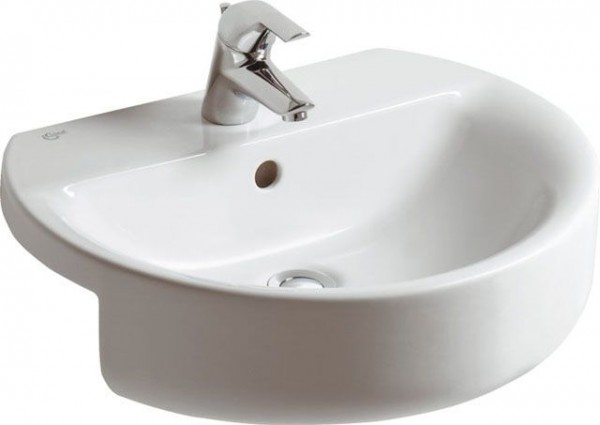 Lavabo Semi Encastré Ideal Standard Connect Ideal + Blanc Alpin Céramique Ideal + E7923MA