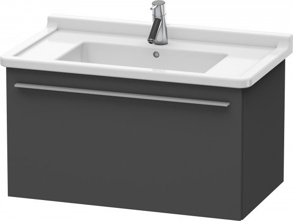Meuble sous Lavabo Duravit X-Large suspendu 800x468 mm Graphite Mat XL605704949