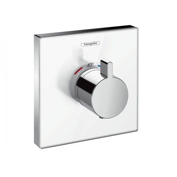 Robinet Encastrable Hansgrohe ShowerSelect Glass Set de finition pour thermostatique 15734400