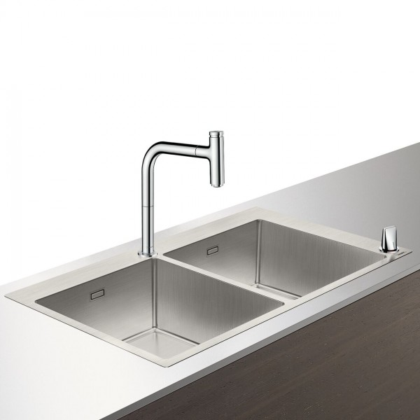 Select-F765-10 Evier combiné 370/370mm Hansgrohe (43203800)
