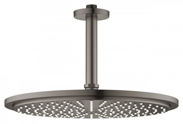 Douche Plafond Grohe Rainshower Ø310mm 1 jet Hard Graphite Brossé 26067AL0