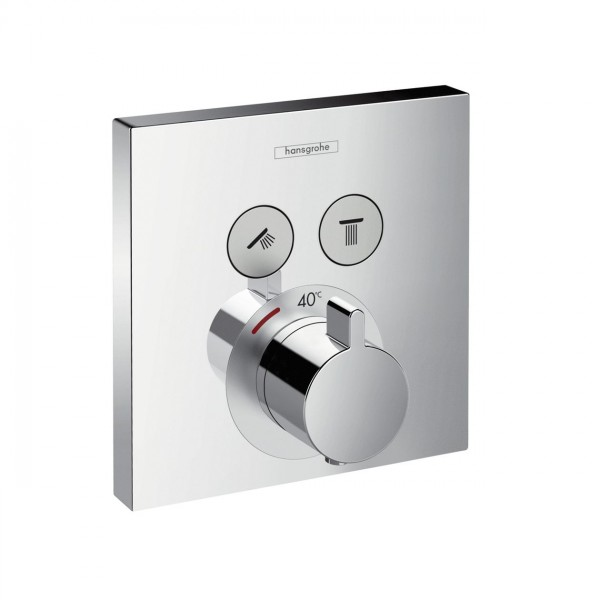 Robinet Encastrable Hansgrohe ShowerSelect thermostatique à 2 fonctions