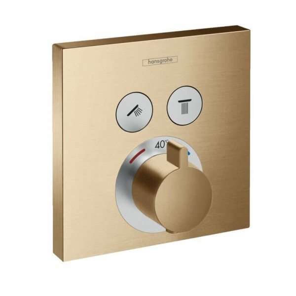 Robinet Encastrable Hansgrohe ShowerSelect thermostatique 2 fonctions Bronze Brossé