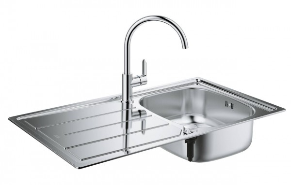grohe sink bandle with stainless steel sink single lever sink mixer rh superbath co uk