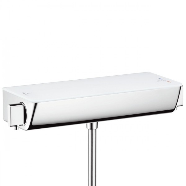 Mitigeur Thermostatique Douche Hansgrohe Ecostat Select apparent ½'' Blanc/Chromé