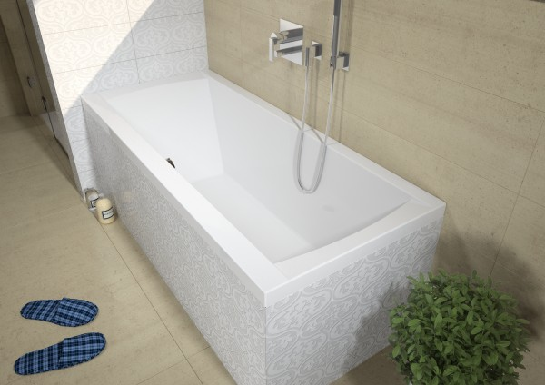 Baignoire Rectangulaire Riho Jersey 1600 x 700 x 520 mm