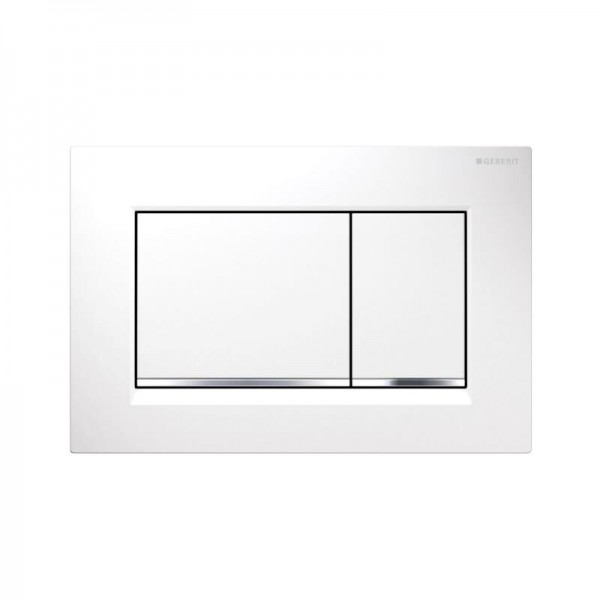 Plaque de Commande Geberit Sigma30 Blanc/Glossy Chrome 115883KJ1
