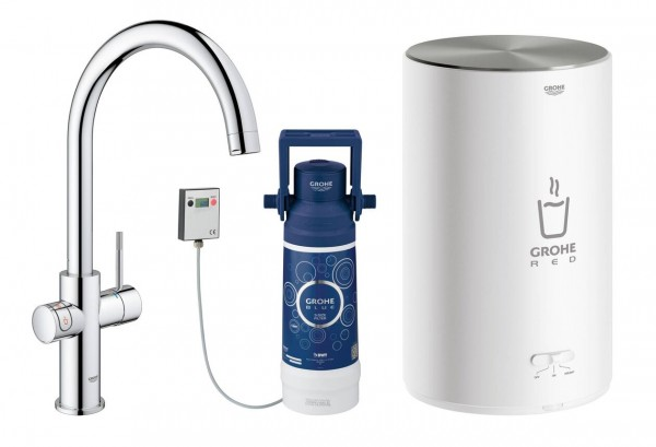 Robinet Chauffe Eau Grohe Red Duo instantané