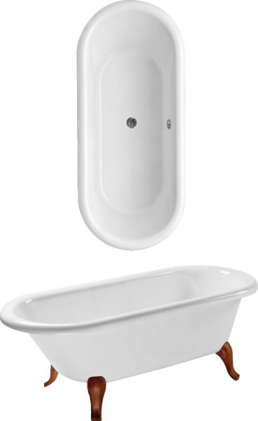 Baignoire Sur Pied Villeroy et Boch Hommage 1771 x 771 x 475 mm Star White UBQ180HOM700V96