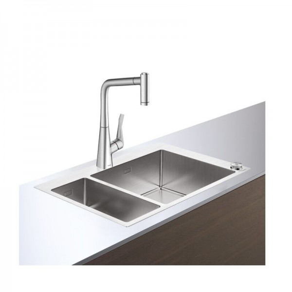 Evier Encastrable Hansgrohe C71 -F655-04 Combinaison Eviers Inox