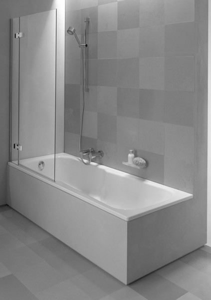 Pare Baignoire Bette Ocean II 1720 x 125 x 730 mm version droite Blanc Transparent HO1R-000