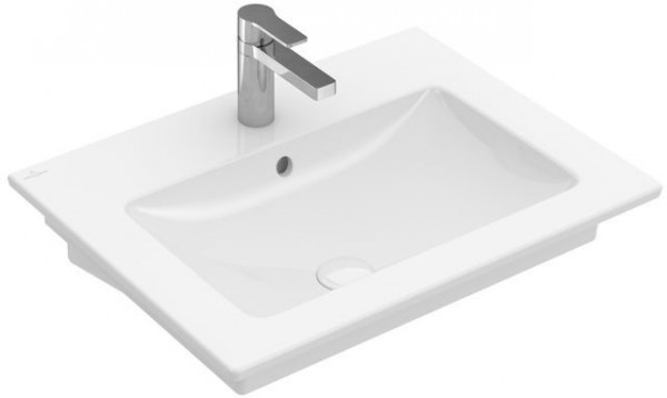 Villeroy en Boch Wastafel met overloop Venticello 600 x 500 mm (4124G)