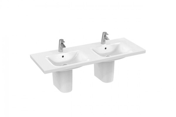 Lavabo Double Ideal Standard Connect Double 1300 mm Céramique Ideal + E8136MA