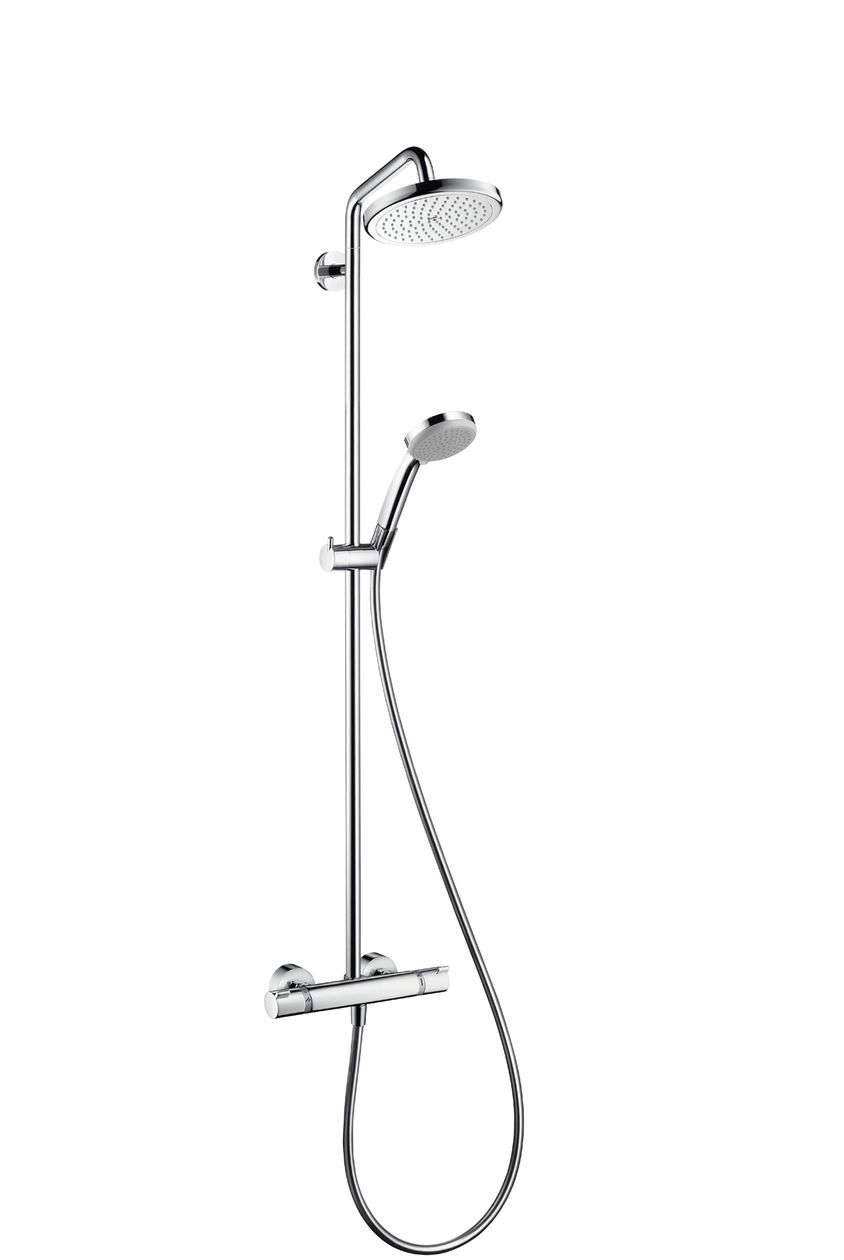 Hansgrohe Croma 220 Shower System With Swivelling 400mm Shower Arm 27185000