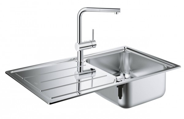 Evier Encastrable Grohe K500 Pack Evier Mitigeur Cuisine Inox