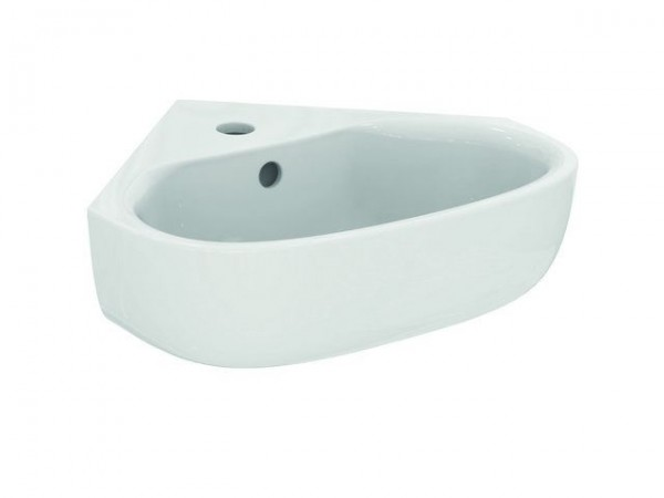 Lavabo d''Angle Ideal Standard CONNECT E 1 Trou 450x410mm Blanc