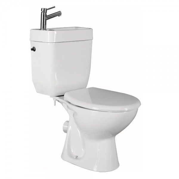 Lavabo WC Allibert COMBI 810x650mm Blanc Abattant Soft Close 821234