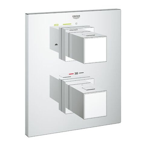 Robinet Encastrable Grohe Grohtherm Cube Façade thermostatique à 2 sorties