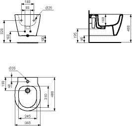 Ideal Standard Bidet Connect.Ideal Standard Back To Wall Bidet Connect Space Ceramic Ideal