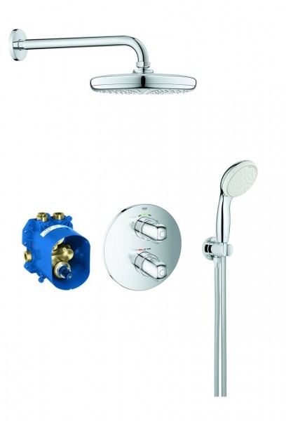 Douche Encastrable Grohe Grohtherm 1000 286mm 2 jets Chromé