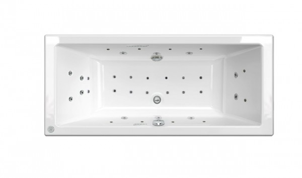 Baignoire Balneo 2 Places Allibert KANDO 1700x750x500-525mm Blanc 199022