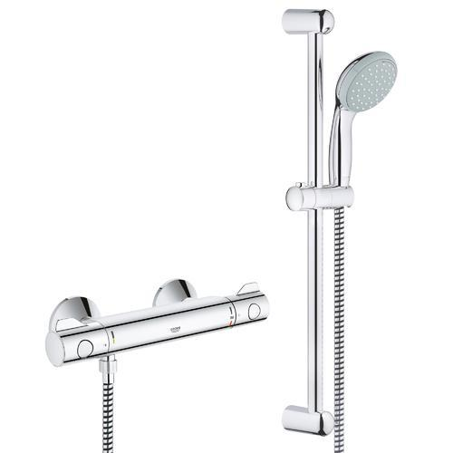 grohe grohtherm 800 mitigeur thermostatique avec barre et pommeau de douche 34565000 grohe. Black Bedroom Furniture Sets. Home Design Ideas