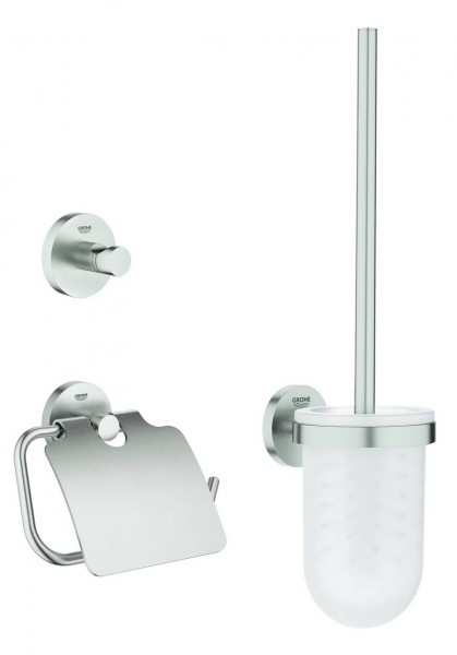 in stock discount sale fast delivery Ensemble Accessoires WC Grohe Essentials 3 en 1 40407DC1