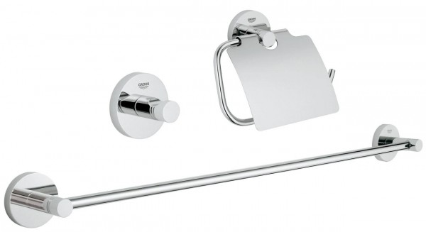 Grohe Toilet Accessoires Set.Grohe Essentials Bathroom Accessories Set 3 In 1 40775001